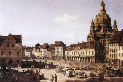 Nowy plac handlowy w Dreźnie - obraz Canaletto